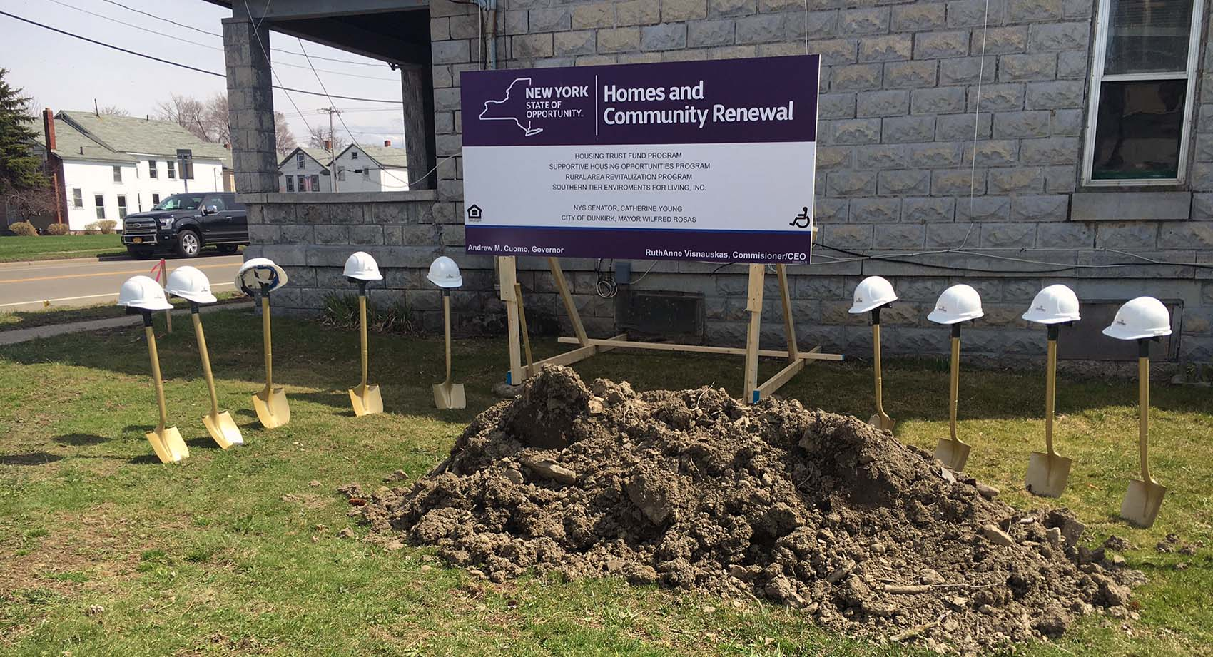 Groundbreaking for the Dunkirk Renovation and Ownership Program